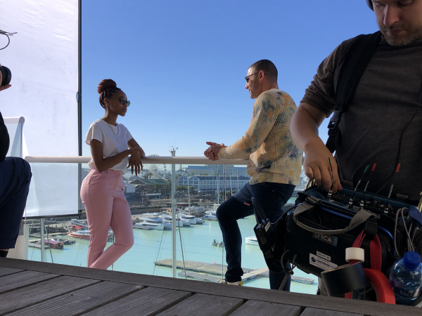 Girl being interviewed