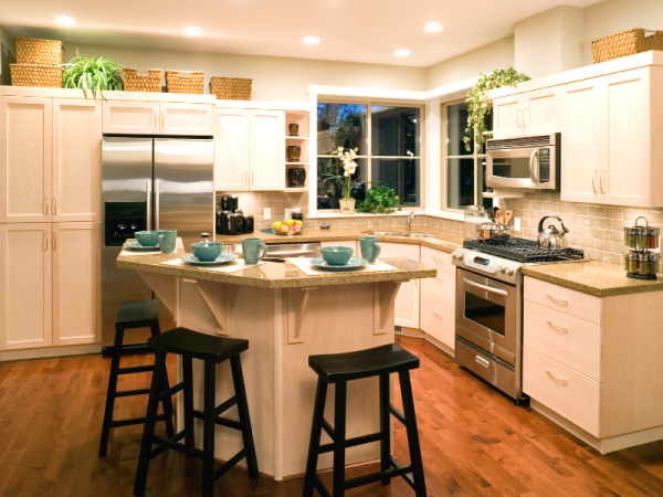 kitchen outlined with appliances